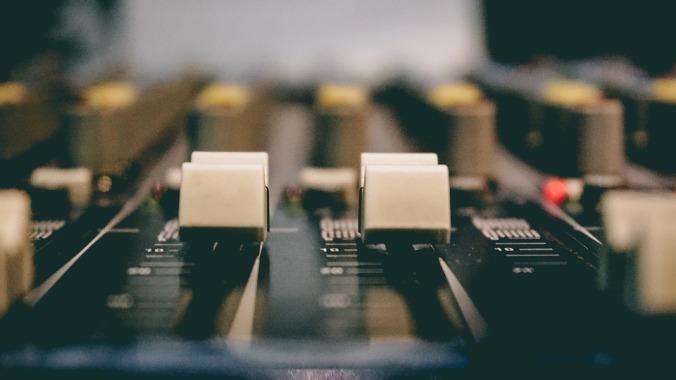 Studio Sound Board Broadcasting Sound Mixer Radio
